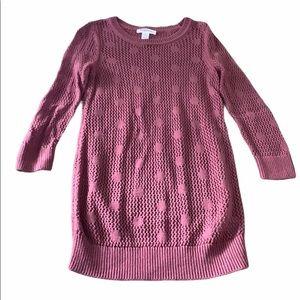 Motherhood Maternity Small Pink Dot Sweater